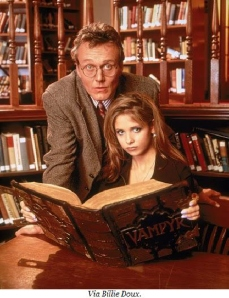 buffy and giles library image