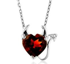 3 carat garnet necklace